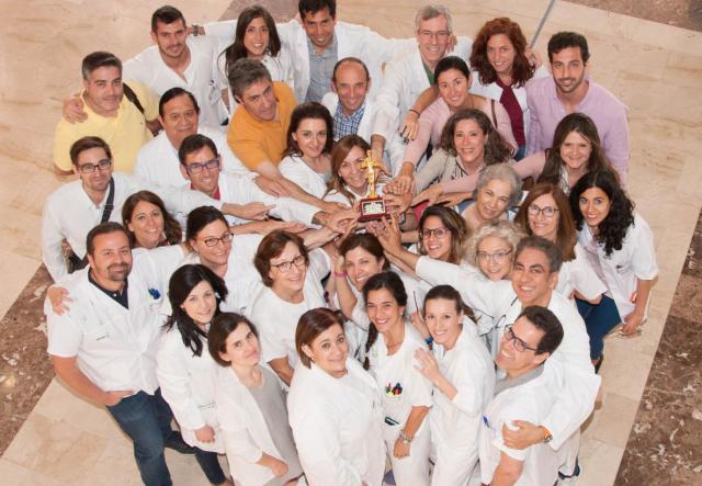 Los profesionales de Oftalmología en el Hospital Mancha Centro.