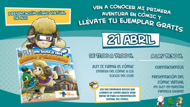 Alfi, la mascota de Los Alfares tendrá su propio cómic