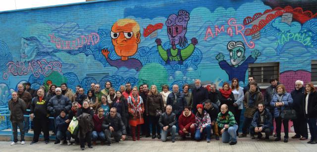 """ATAFES Talavera inaugura un mural """"por la integración'"""