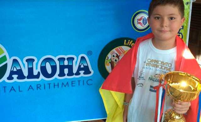 Un toledano de ocho años, Nacho Bravo, campeón del mundo de cálculo mental