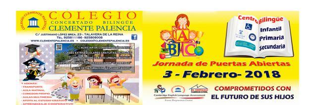 El colegio bilingüe 'Clemente Palencia' organiza el próximo sábado 3 de febrero, de 10:00 a 13:00 horas, su Jornada de Puertas Abiertas