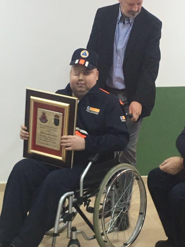 Nos dejó Jesús García Mata 'Pocholín', de 16 años, condecorado recientemente con la medalla de Protección Civil