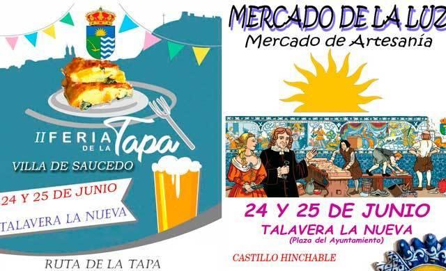 Mercado de la Luz y Feria de la Tapa en Talavera la Nueva los días 24 y 25