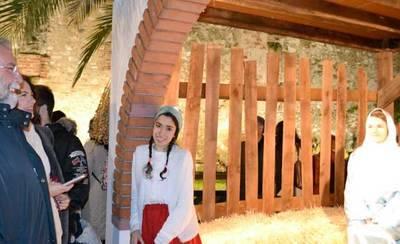 El Belén viviente ya luce en el patio de El Salvador de Talavera