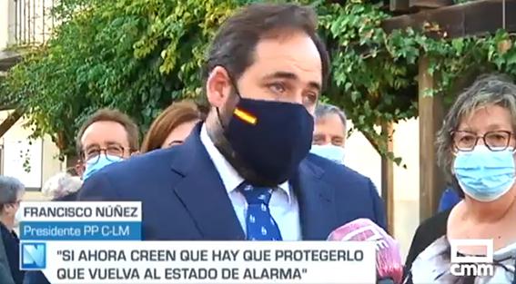 Núñez en el momento de hacer estas declaraciones a CMM