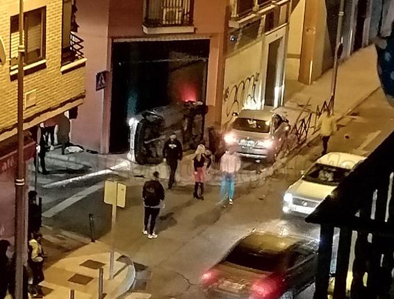 TALAVERA | Espectacular accidente en una transitada calle de la ciudad
