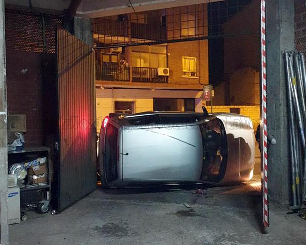 VIDEO/FOTOS | Más imágenes del accidente de esta noche en Talavera