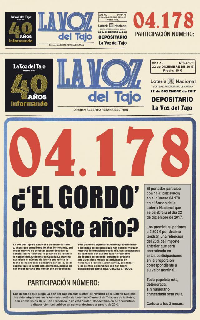 Cada castellano-manchego gastará una media de 68,83 euros en la Lotería de Navidad