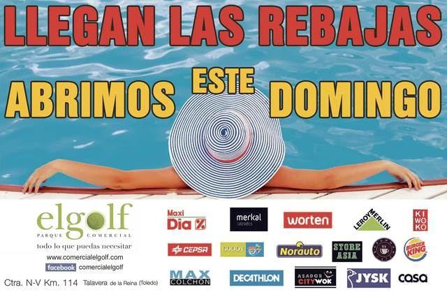 ABIERTO ESTE DOMINGO | Llegan las rebajas al Parque Comercial El Golf