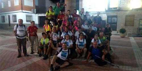 Peregrinación a la Basílica del Prado de la asociación TREKKING TACHAMONTES desde San Román