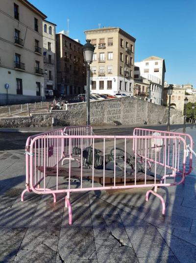 Salvajismo contra la estatua de Bahamontes en Toledo