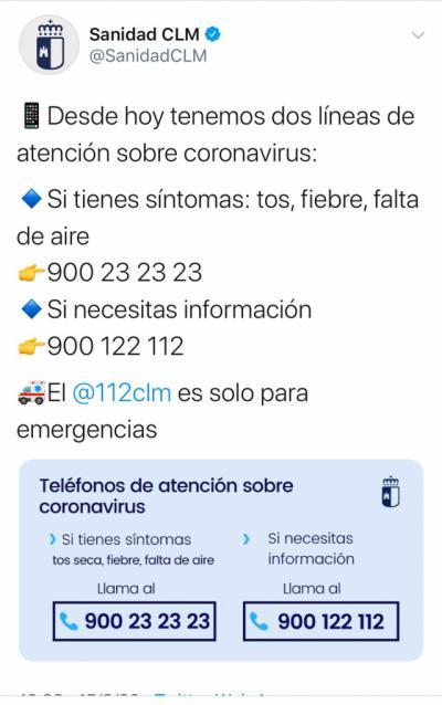 CORONAVIRUS | Si tiene síntomas llame al 900 232 323