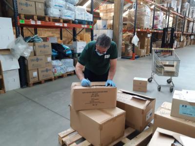 COVID-19   Esta ha sido la entrega semanal de material de protección