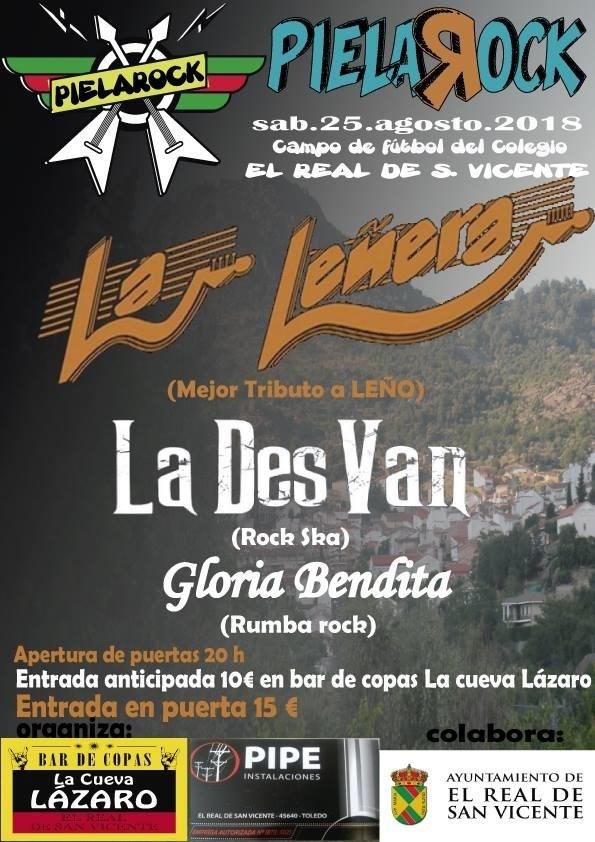 El festival Pielarock celebra su primera edición homenajeando a Leño el 25 de agosto en El Real de San Vicente