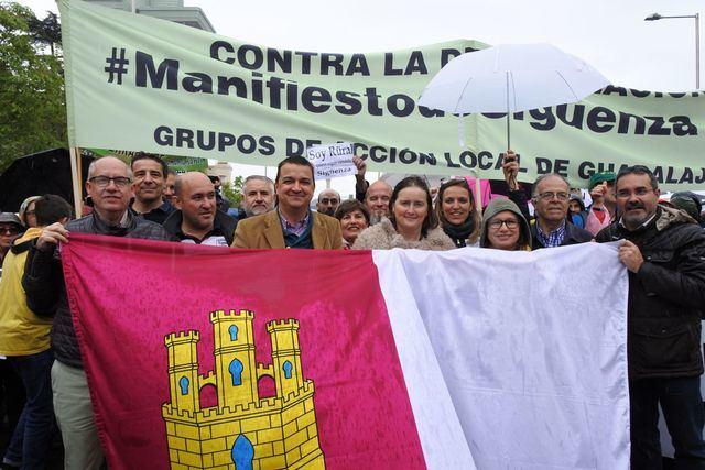 Castilla-La Mancha, presente en la manifestación sobre la despoblación del medio rural