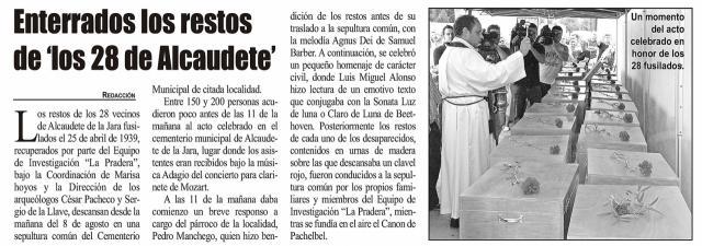HEMEROTECA | 20 Noticias con foto y una entrevista (III)