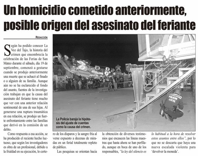 HEMEROTECA | 20 Noticias con foto y una entrevista (IX)
