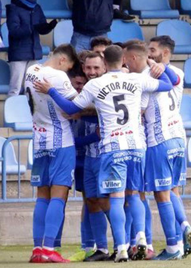 El Talavera celebra su gol ante el Villanovense. FOTO: Twiter CF TALAVERA