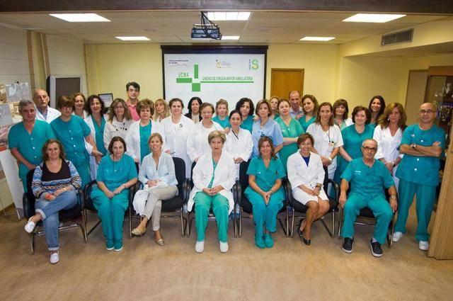 Equipo de la Unidad de Cirugía Mayor Ambulatoria del Hospital de Toledo