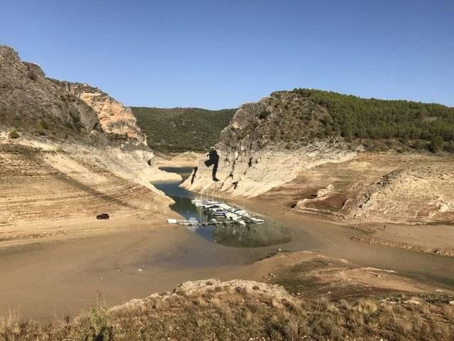 Los embalses de cabecera del Tajo se siguen secando día tras día