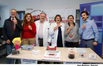 """El Centro de Salud de Navamorcuende quiere que """"No chamusques tu bigote"""""""