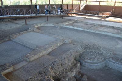 La Diputación contribuye a la restauración de los mosaicos del Parque Arqueológico de Carranque