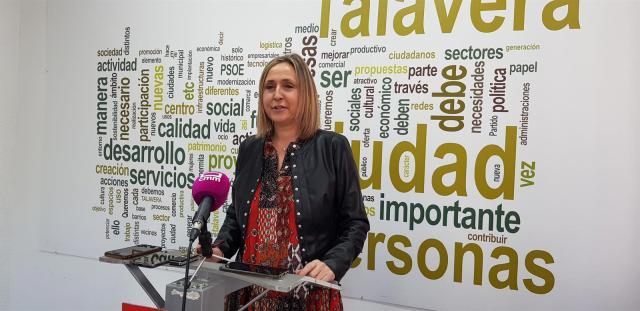 La edil del PSOE en Talavera.