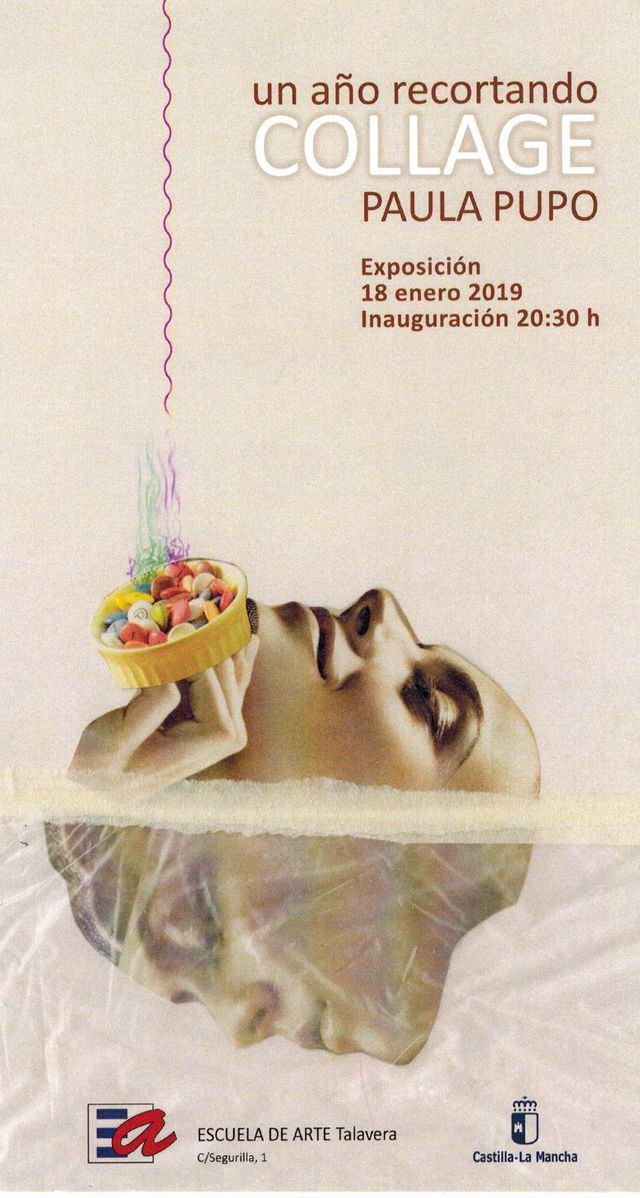 """Inauguración de la exposición de la autora Paula Pupo, """"Un año recortando collages"""""""