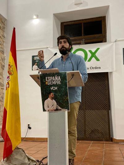 Manuel Mariscal, de VOX, en Quintanar de la Orden