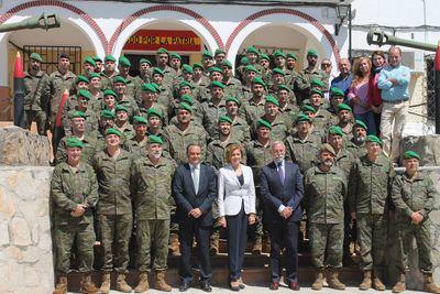 Cospedal visita a la compañía de Municionamiento 112 en el Polvorín del Cerro Negro