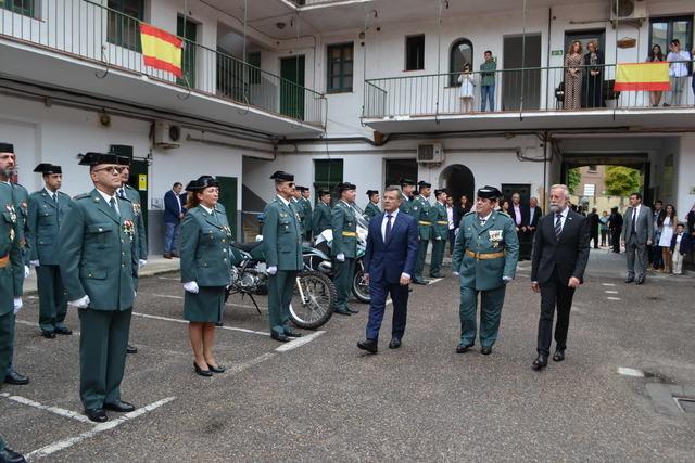 Homenaje a la Guardia Civil en Talavera en el Día del Pilar