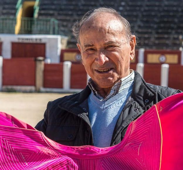 El maestro Raúl Sánchez en la Plaza de Toros de Talavera