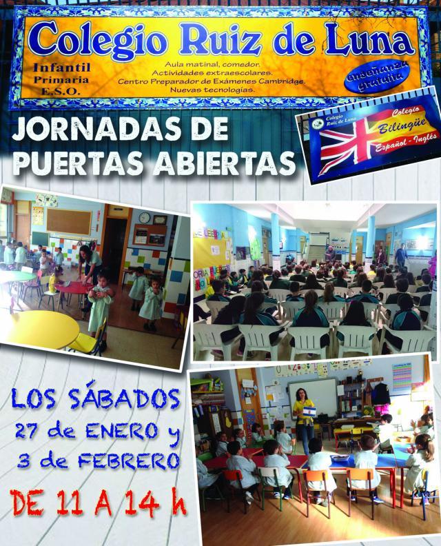 Jornadas de Puertas Abiertas en el colegio 'Ruiz de Luna' de Talavera