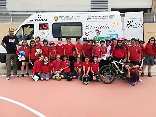 926 alumnos de Talavera y comarca participan en 'BiciAula' 2018
