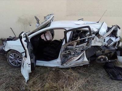 Espectacular (y milagroso) accidente en la entrada de Segurilla (FOTOS)