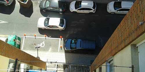 Hoy, 22 de septiembre, se ha se�alizado el parking de minusv�lidos en La Piedad