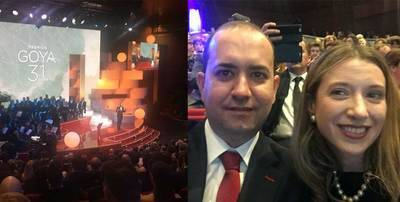 Javier Sierra, un talaverano en la gala de los Premios Goya 2017