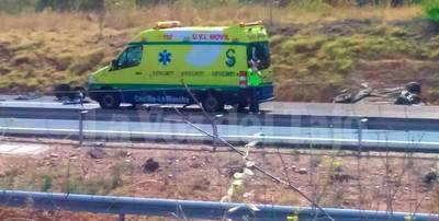 Dos jóvenes, heridos graves en un accidente en el km. 98 de la A-5