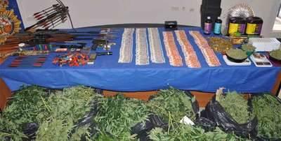 Desarticulado un grupo criminal dedicado al cultivo y distribución de marihuana en la provincia de Toledo