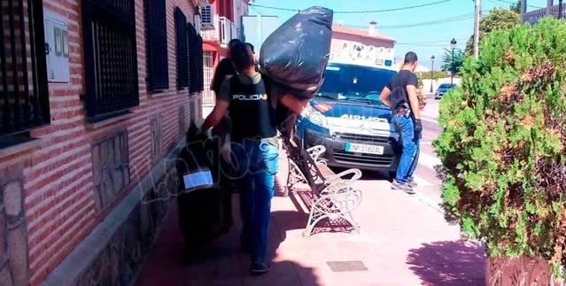 Los registros en la operación policial antidroga se extienden a Alcaudete, San Román y Cazalegas
