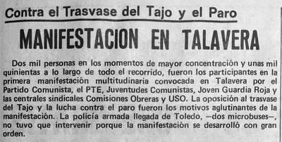 """Así se clamaba contra el Trasvase Tajo-Segura en el año 1977: """"El pobre siempre pierde"""" (Galería)"""