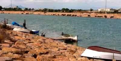 ¿Secos? Vean las imágenes de la desembocadura y los canales de riego del río Segura tomadas este miércoles 5 de octubre