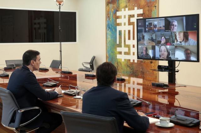 Imagen de la videoconferencia de hoy domingo