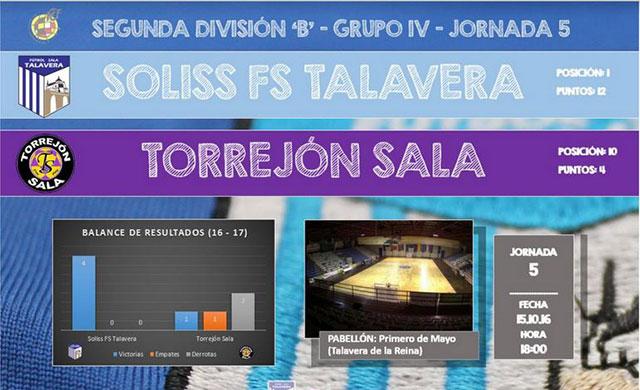 El Soliss FS Talavera quiere 'meter la quinta' ante Torrejón Sala