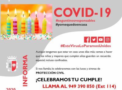 CORONAVIRUS   La sonora iniciativa de Protección Civil para celebrar cumpleaños durante el estado de alarma