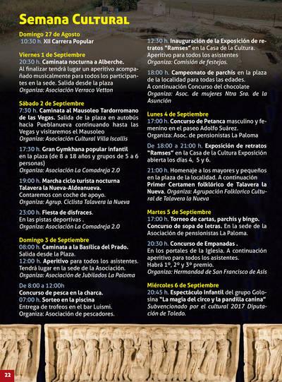 Da comienzo la semana cultural de Talavera la Nueva