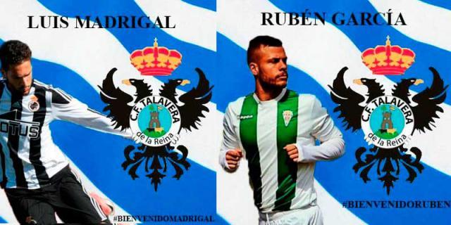 Luis Madrigal y Rubén García, nuevos fichajes del CF Talavera