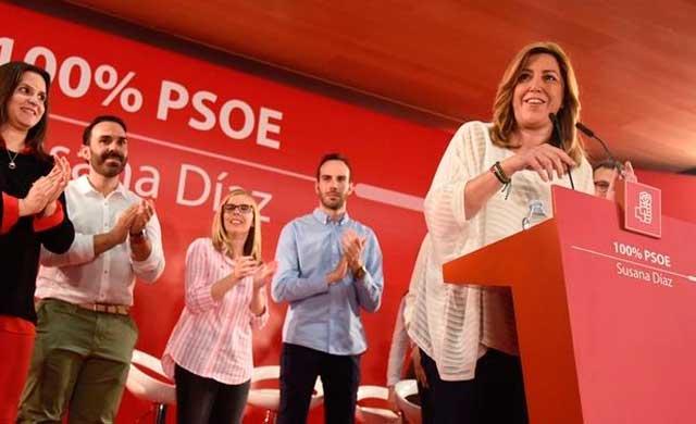 Susana Díaz pide el voto para