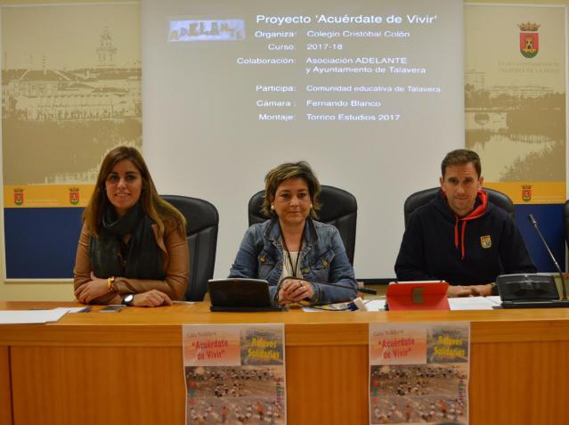 El colegio Cristóbal Colón presenta sus nuevas actividades a favor de los enfermos de ELA