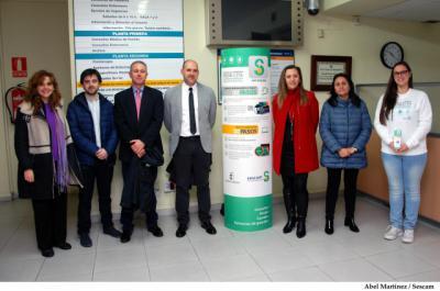 La directora provincial de Sanidad, junto al delegado de la Junta en Talavera de la Reina y el director gerente del Área Integrada de Talavera